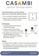 Casambi Bluetooth-Dimmer (für LED-Band)