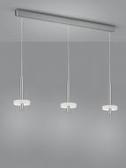 LED-3er-Pendelleuchte KEA Nickel
