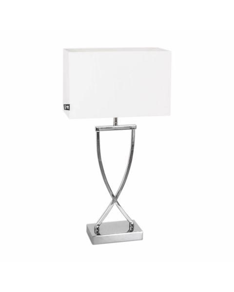 Tischleuchte Omega Chrom Weiß 52 cm