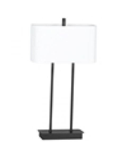 Tischleuchte Luton Schwarz 56 cm