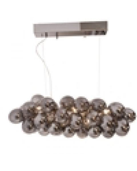 LED-Pendelleuchte Gross Bar L 80 cm Rauchgrau