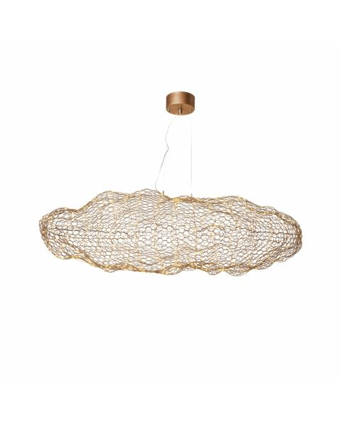 LED-Pendelleuchte Hyden LED 40 cm Gold