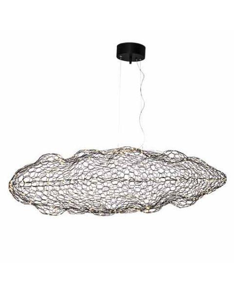 LED-Pendelleuchte Hyden LED 50 cm Schwarz matt