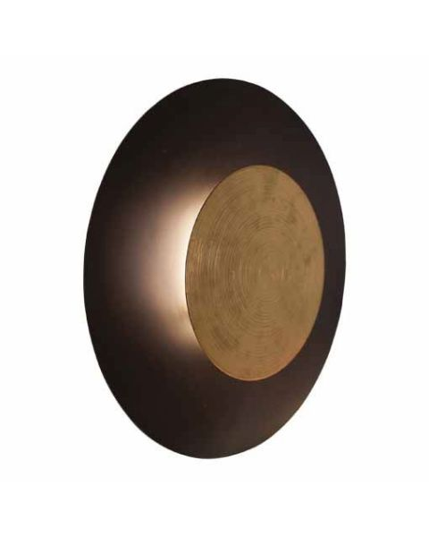 LED-Wandleuchte Nitra 50 cm Schwarz matt