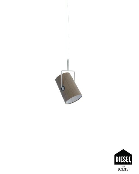 Pendelleuchte FORK ivory/grau (ohne Baldachin)