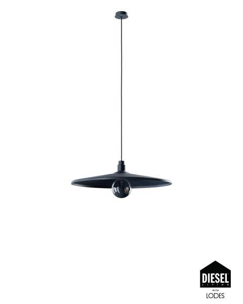 Pendelleuchte VINYL schwarz 60cm