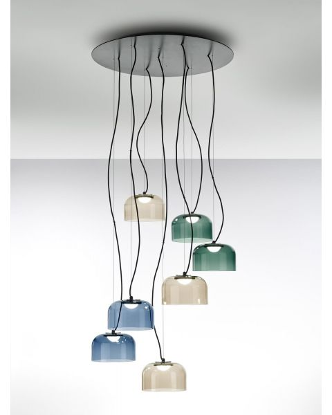 7er-LED-Pendelleuchte BELL