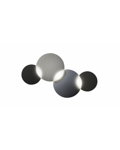 3er-LED-Wand-/Deckenleuchte CIRC SMART graphit/silber