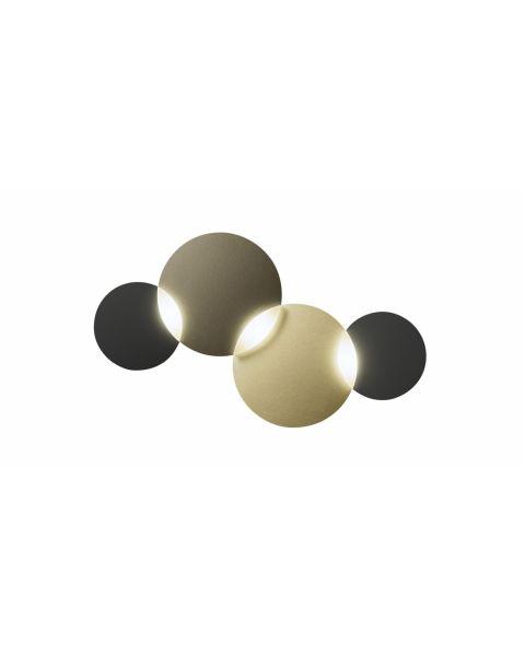 3er-LED-Wand-/Deckenleuchte CIRC SMART Bronze/Messing