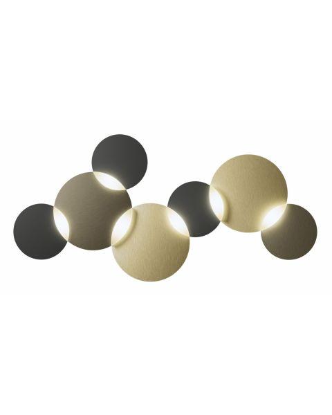 6er-LED-Deckenleuchte CIRC SMART Bronze/Messing