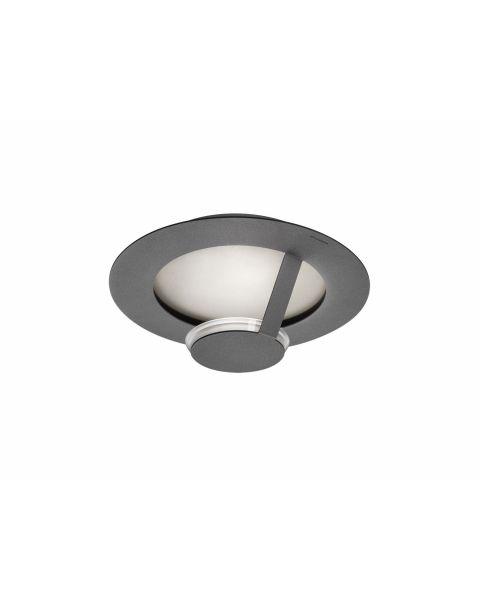 LED-Wand-/Deckenleuchte FLAT 36cm grau/silber