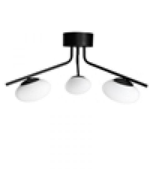 LED-Deckenleuchte Imperia 50 cm Schwarz matt
