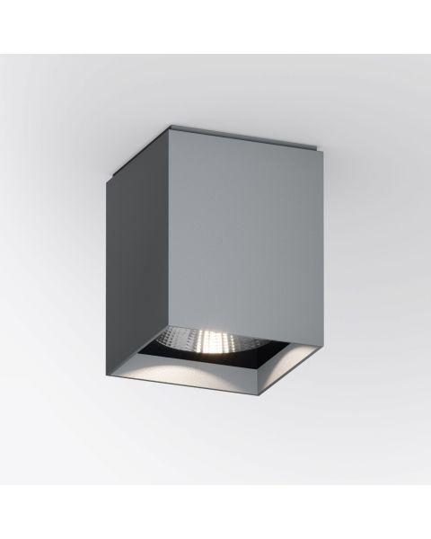 LED-Deckenspot UP S grau (eckig)