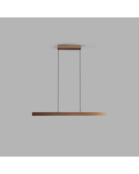 LED-Pendelleuchte EDGE LINEAR 100cm rosegold