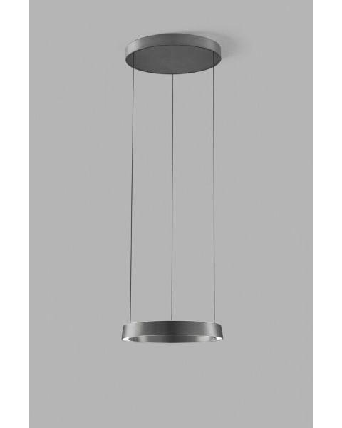 LED-Pendelleuchte EDGE ROUND 40cm titan