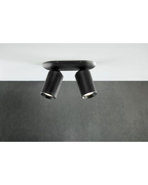 2er-LED-Spot RAW carbonschwarz