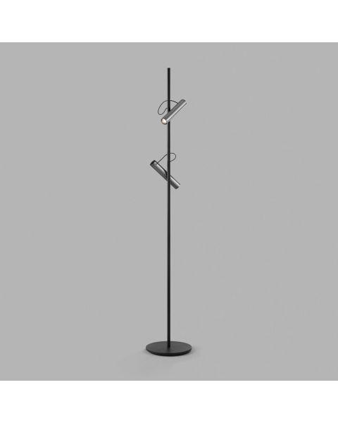 LED-Stehleuchte SPIRIT schwarz/titan