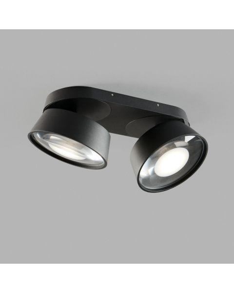 2er-LED-Spot VANTAGE 28x13cm schwarz