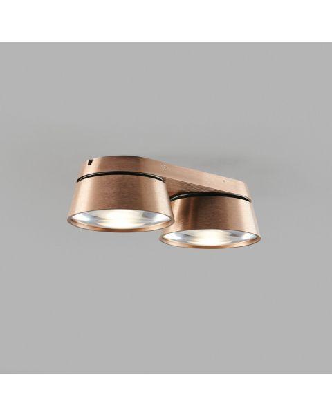 2er-LED-Spot VANTAGE 28x13cm rosegold