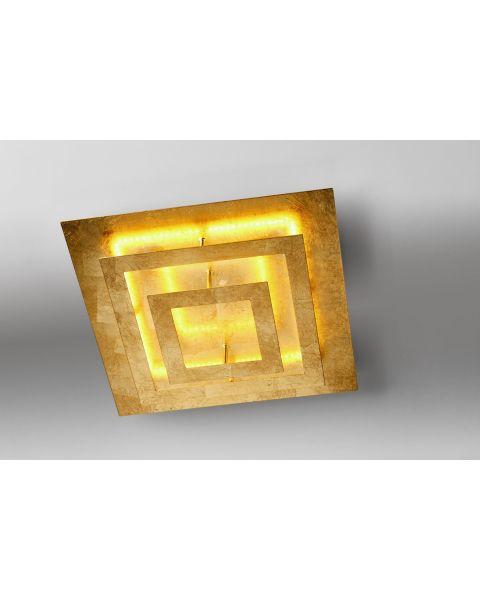LED-Deckenleuchte SQUARE 40x40cm Blattgold