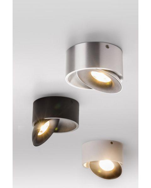 LED-Deckenspot SATURN schwarz/weiß