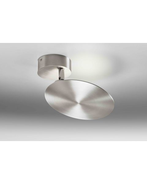 LED-Wand-/Deckenleuchte PLATE Alu