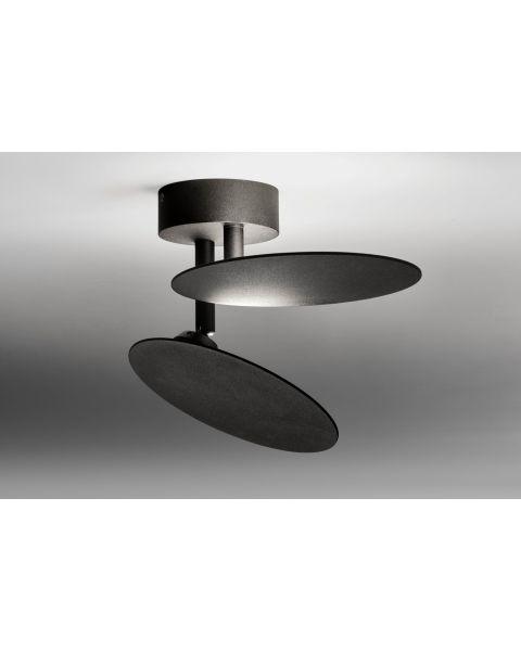 2er-LED-Deckenleuchte PLATE schwarz