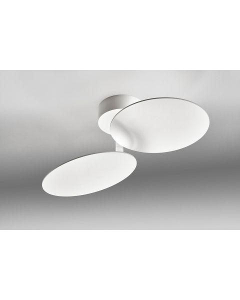2er-LED-Deckenleuchte PLATE weiß