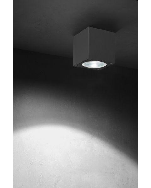 LED-Deckenaußenleuchte KUBUS anthrazit