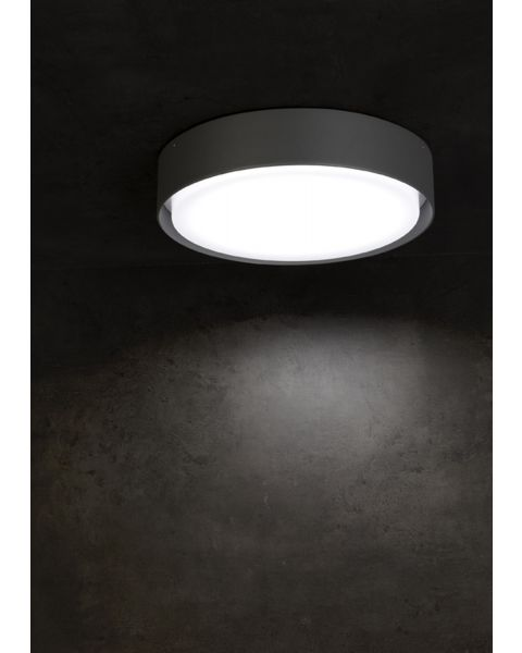 LED-Deckenaußenleuchte BORDA anthrazit