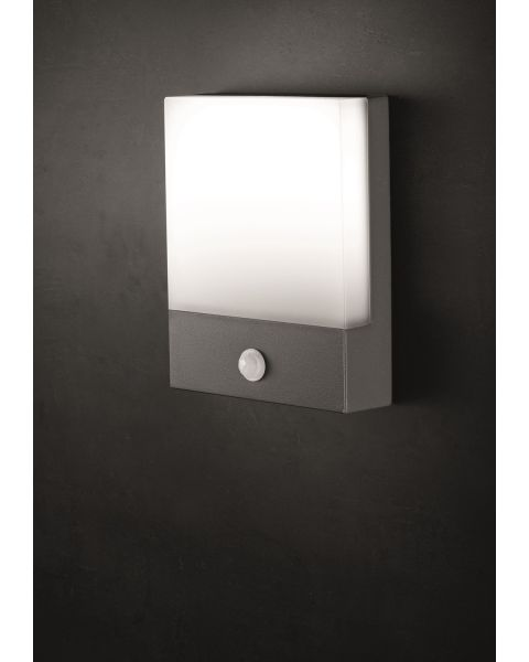 LED-Wandaußenleuchte PAD SENSOR anthrazit