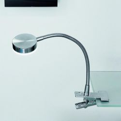 Hausmarke LED-Klemmleuchte LA 4-1134/1 satin