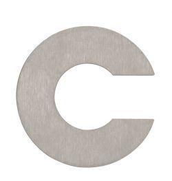 Hausnummer c Edelstahl