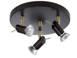 3er-Deckenspot LEDO schwarz/gold
