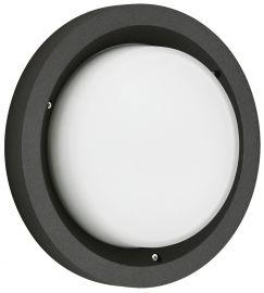 LED-Wand-/Deckenaußenleuchte Schwarz
