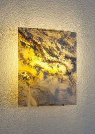 Epstein Design Wandleuchte Schiefer Wandleuchte halbrund 28x25 cm 15519