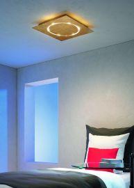 Escale SKYLINE blattgold LED-Deckenleuchte