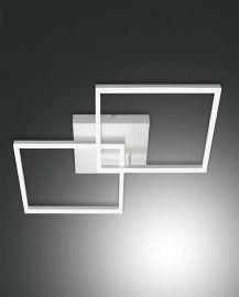 Fabas Luce LED-Wand-/Deckenleuchte BARD 65x65cm weiß