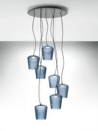 7er-LED-Pendelleuchte PLISSE