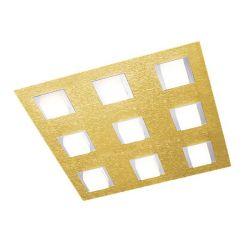 Grossmann LED-Deckenleuchte BASIC 45x45cm Messing matt 79-790-058