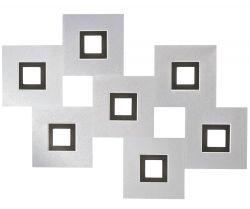 Grossmann LED-Deckenleuchte KARREE 80x60cm Alu/schwarz 77-783-246