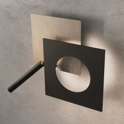 Icone Minitallux LED-Wandleuchte PETRA (mit Leselicht) 21cm