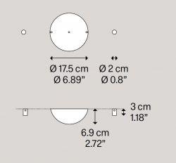 2er-Deckenbaldachin chrom (nur für Sky-Fall)
