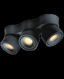 Lumexx 3er-LED-Spot EASY TRIPLE schwarz 2-215-11-2