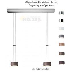 Oligo LED-2er-Pendelleuchte GRACE mit Gegenzug