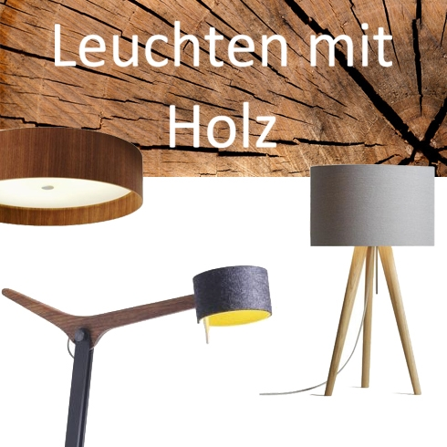 Lampen mit Holz