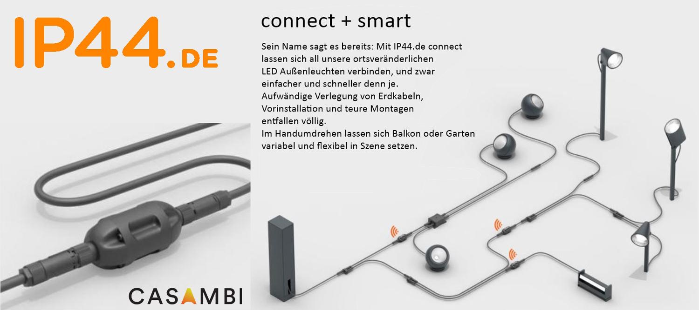 Lampensystem Connect von IP44.de für den Garten